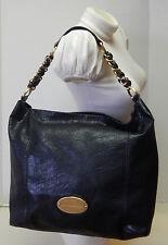 Dana Buchman Large Black Carryall Hobo Shoulder Bag Satchel Handbag Tote Purse
