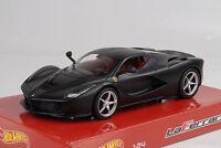 2013 Ferrari Laferrari flat black matt schwarz 1:24 Hot wheels