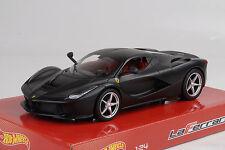 2013 Ferrari LaFerrari Plano Negro Mate Negro 1:24 Hot Wheels