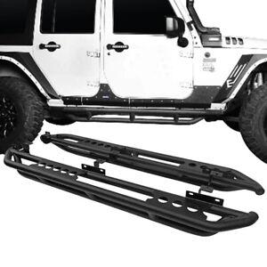 APS iBoard Running Boards 4 inches Custom Fit 2018-2020 Jeep Wrangler JL Sport Utility 4-Door Nerf Bars Side Steps Side Bars