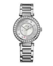 Juicy Couture Women's 1901150 Luxe Couture Silver Tone Crystal Watch