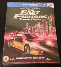 The FAST and The FURIOUS TOKYO DRIFT Blu-Ray SteelBook UK Zavvi 3 OOP Very Rare!