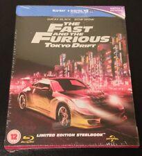 FAST & FURIOUS TOKYO DRIFT Blu-Ray SteelBook Zavvi UK 3 Region Free New OOP Rare