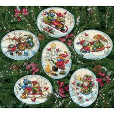 DIMENSIONS GOLD Ornament Cross Stitch Kit Makes 6 PLAYFUL SNOWMEN