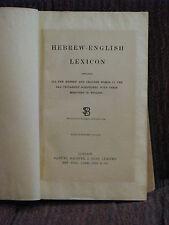 1906 Hebrew Bible w/ Hebrew/English Lexicon