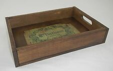 Timber vintage tray recreated french look 43x30x8cm  NEW