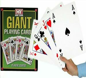 Deck Of Giant Playing Jumbo A4 Size Cards Ideal For Parties New For Kids & Adult