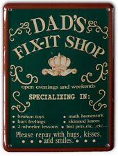DADS FIX IT SHOP Small Vintage Metal Tin Pub Sign