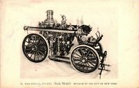 Vintage Postcard - Fire Engine 1905-1913 Scale Model Museum New York NY#4388