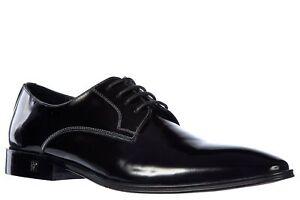 Versace Collection Men's Black Leather Laced Derby Dress Shoes 8 M US, 41 M EU