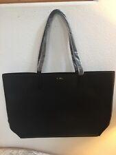 Donna Karan DKNY Woman large black faux leather Tote shoulder Bag purse Handbag