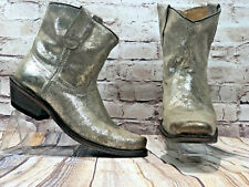 CoFi womens sz 9 gold suede western style cowgirl ankle boots