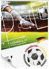 Fußballblock / Schulblock Din A4 von Brunnen