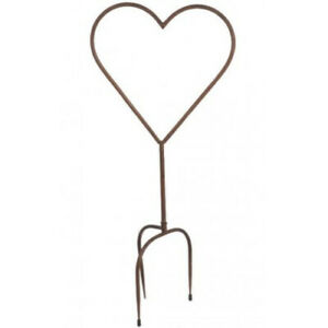 Rusted Metal Heart Shaped Garden Stake Valentines Gardening Ladies Gifts Present