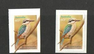 AUSTRALIA SG3509 KINGFISHERS SELF ADHESIVE ISSUE / BOOKLET STAMP   2010 MNH