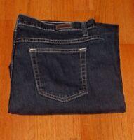 Women's Lee Riders Dark Blue Regular Stretch Jeans Size 16 35 x 29 Exc Cond
