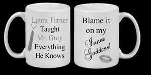 Beautiful Personalised  Mug Gift Present Love Mr Grey