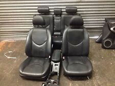 2008 TOYOTA RAV 4 MK3  BLACK LEATHER SEATS FRONT REAR & DOOR CARDS