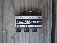 Vintage Kinstar Pitch Pipe Brown Gold Plastic 2-1/2 x 2 inches