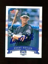 Brent Butler Autograph Signed 2002 Fleer Rockies