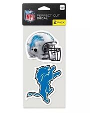 NFL Detroit Lions Football Logo & Helmet Set of 2 Die Cut Decals by Wincraft