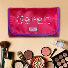 Personalised Crystal Make-Up Wash Bag Travel Hanging Christmas gift Present