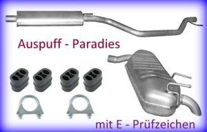 Auspuffanlage Abgasanlage Endschalldämpfer für Opel Signum 1.8 / 90 & 103KW +Kit