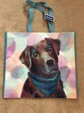 NEW Marshalls Large Shopping Tote Bag ~Pup In Teal Bandana~ Reusable EcoFriendly