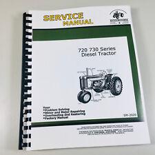 Technical Service Manual For John Deere 720 730 Diesel Tractor Repair Shop Book