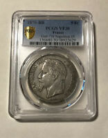 France - 1870-BB Silver 5 Francs (PCGS VF 30)