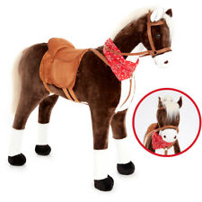 Knorrtoys Großes XXL Standpferd Liana mit Sattel Braun Pferd Stehpferd Reitpferd