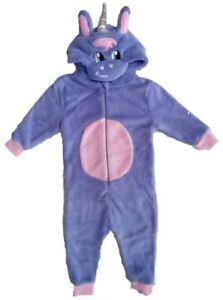 Girls Kids Unicorn 1Onesie Pyjama All In One Sizes 2-12 Years Christmas Gift