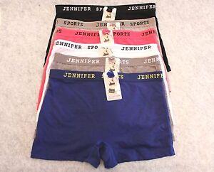 Jennifer 61014PH Sports Activewear Yoga Gym Workout Boxer Shorts Underwear 6pk
