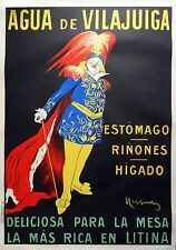 Cappiello original AGUA VILAJUIGA poster 1910 on linen 41 x 56.5 in, Advertising