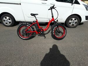 Fat tyre electric bike  48v 500w   available in Red, Blue and Black