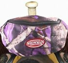 NEW! PURPLE! Showman Real Oak Insulated Nylon Saddle Pouch. FREE SHIPPING!