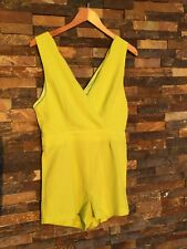 Lime Green Boohoo Playsuit