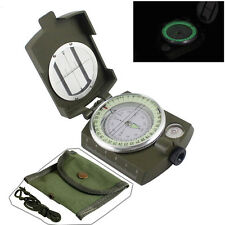 Professional Military Army Metal Sighting Compass Clinometer Camping Hiking Hot