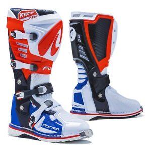 motocross boots | Forma Predator 2.0 pro red white blue tech mx patriot offroad