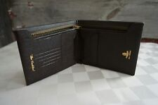 "Men's Slim Bifold Wallet Quailty Leather Brown Walsh Morroco ""The Cadillac"" Zip"