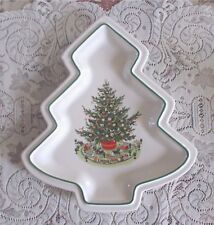 Pfaltzgraff Heritage Porcelain Christmas Tree Shaped Plate Ex Condition