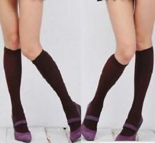 Spandex Knee High Socks Stockings Soft Touch Black One Size