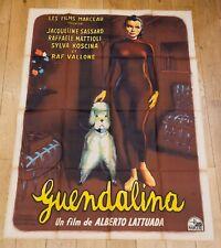 RARE ! GUENDALINA Affiche film 120x160 ALBERTO LATTUADA, JACQUELINE SASSARD