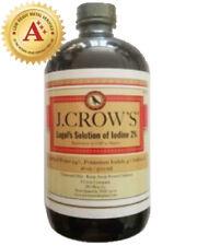 J.CROW'S® Lugol's Solution of Iodine 2% 16 oz Bottle