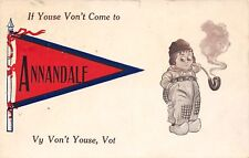 Annandale Mn If Youse Von't Come, Vy Von't Youse, Vot? Dutch Pennant Pipe~1913