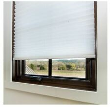 Redi Shade White Cordless Light Filtering Fabric Pleated Shade 48 in. W x 64 in.