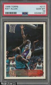 1996-97 Topps #217 Ray Allen Milwaukee Bucks RC Rookie PSA 10 GEM MINT