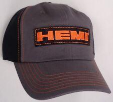 Hat Cap Hemi Patch Dodge Chrysler Plymouth Jeep Grey Black CF