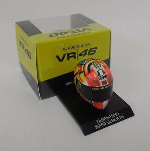 Model Helmet 1/10 MINICHAMPS valentino rossi VR/46 Moto Ducati Valencia 2011