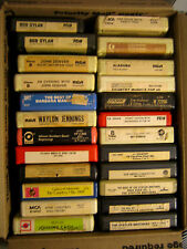 """24 RARE HTF VINTAGE COLLECTABLE 8 TRACK TAPES COUNTRY ETC. MUSIC  """" SOLD AS IS """""""